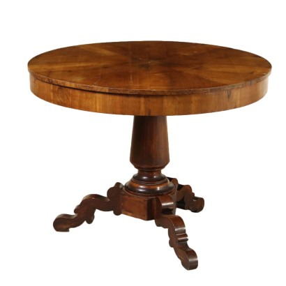 Walnut Table Italy Mid 19th Century