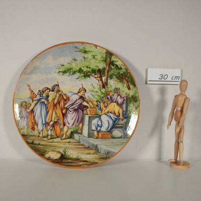 Majolica Plate Mollica Manufacture Neaples Italy Early 1900s