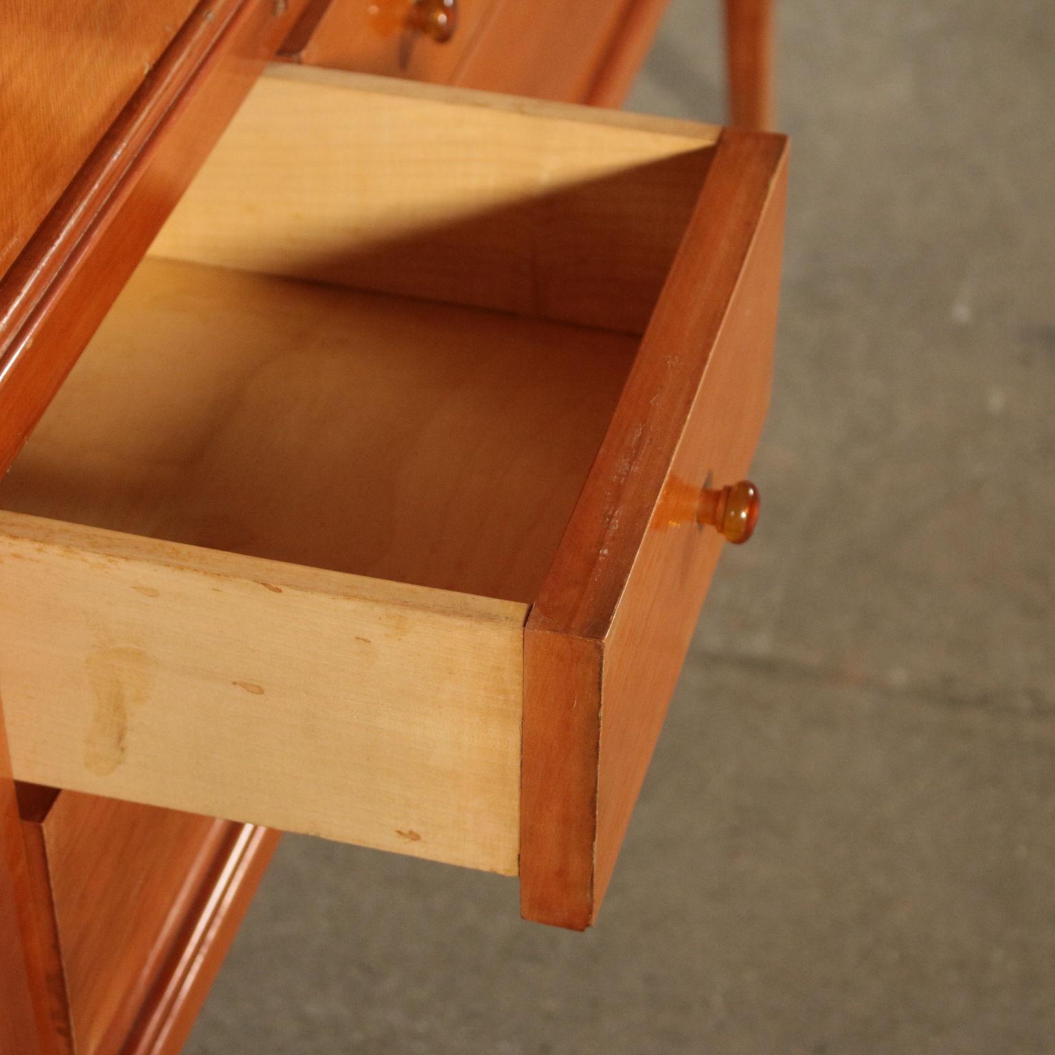 Cabinet fruit wood veneer maple vintage italy 1940s