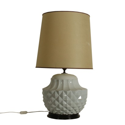 Table Lamp Glazed Ceramic Vintage Italy 1970s