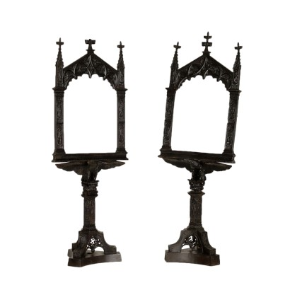 Pair of Iron Neogothical Photo Frames Late 19th Century