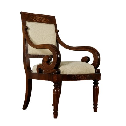 Charles X Armchair Maple Manufactured in Italy First Half of 1800s