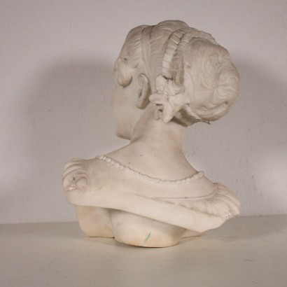 Liberty Marble Bust Female Figure Italy Early 20th Century