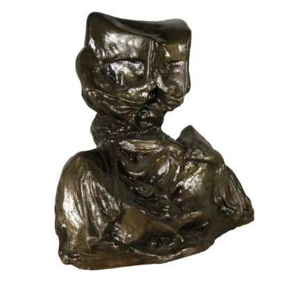 Terracotta Sculpture Dark Patina Second Half of 1900s