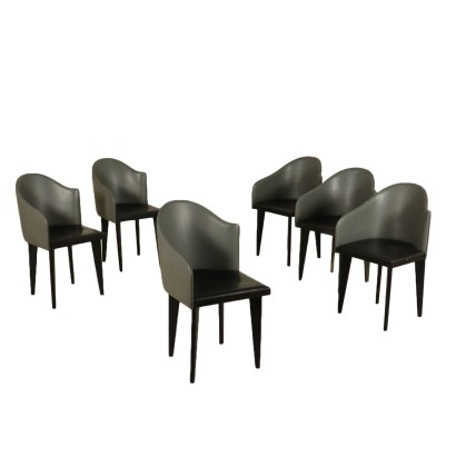 Group of Six Chairs by Piero Sartogo and Nathalie Grenon for Saporiti