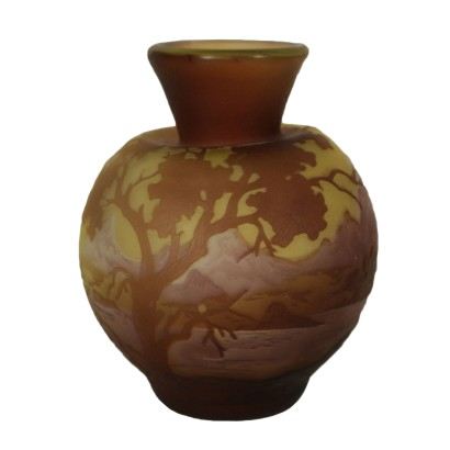 Vase Galle Style Manufactured in France 20th Century