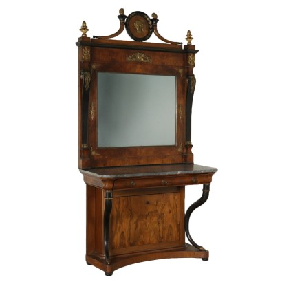 Impressive Console with Mirror Italy Second Quarter of 1800s