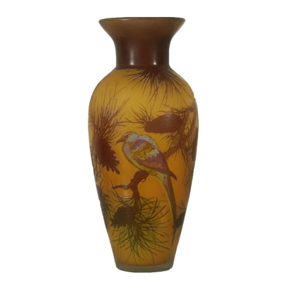Glass Vase in the Style of Paul Nicolas 20th Century