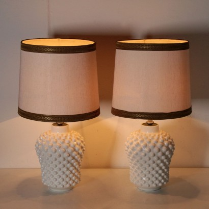 Pair of Table Lamps for La Farnesiana Vintage Italy 1970s-1980s
