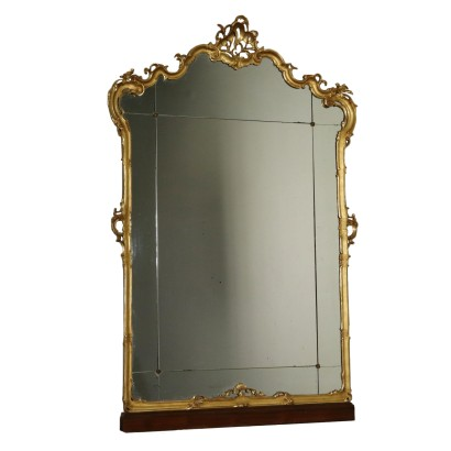 High Mirror Gilded Wood Italy First Half of 1900s