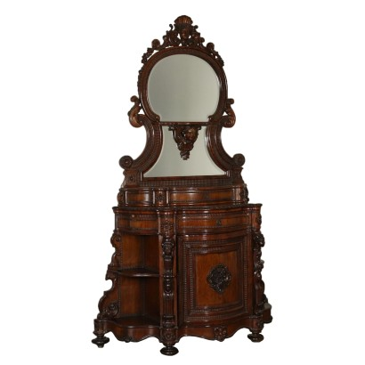 Rosewood Cabinet with Mirror Italy Mid 1800s