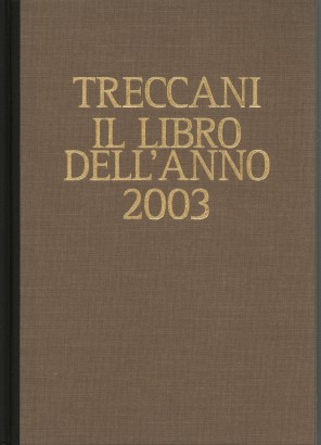 Treccani. The book of the year 2003
