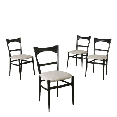 Set of Chairs by Andries Van Onck Vintage Italy 1950s
