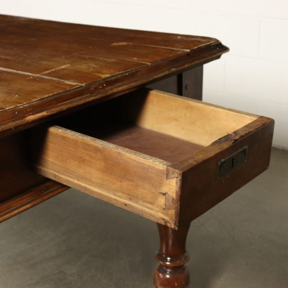 Large Wooden Table Cherry Wood Italy Mid 1800s
