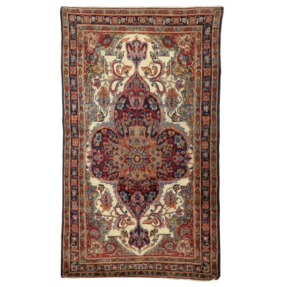 Wool and Cotton Kirman Laver Carpet Iran 1920s-1930s