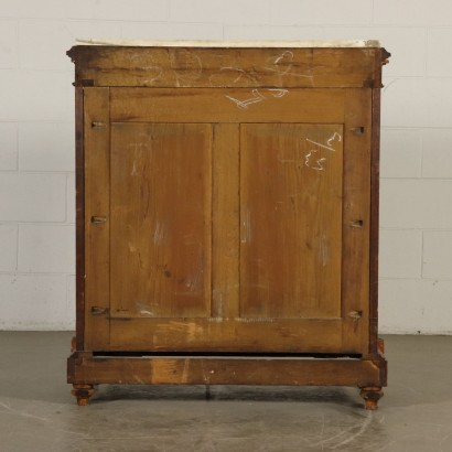 Small Glass Cabinet Marble Top Italy Last Quarter of 1800s