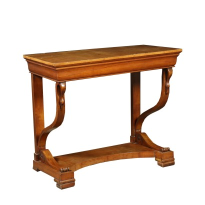 Restoration Console Table Cherry Italy Second Quarter of 1800s