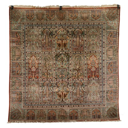 Cotton and Wool Srinagar Carpet India 1980s-1990s