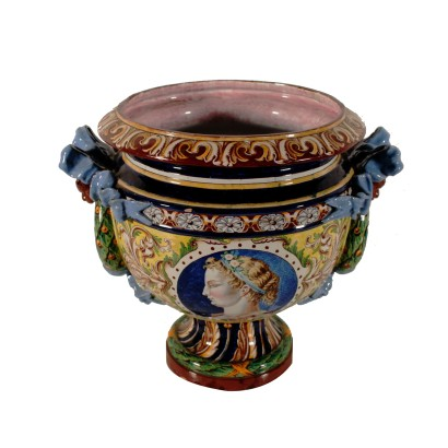 Decorated Vase Style of the Renaissance Italy Early 20th Century