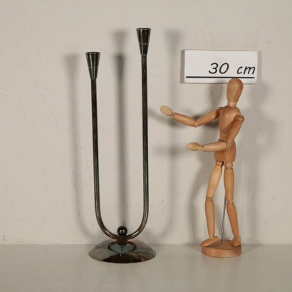 Candle Holder by Guido Niest Metal Italy 20th Century