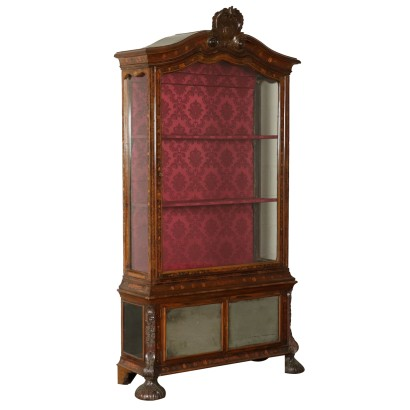 Elegant Glass Cabinet with Inlays Holland Early 1800s