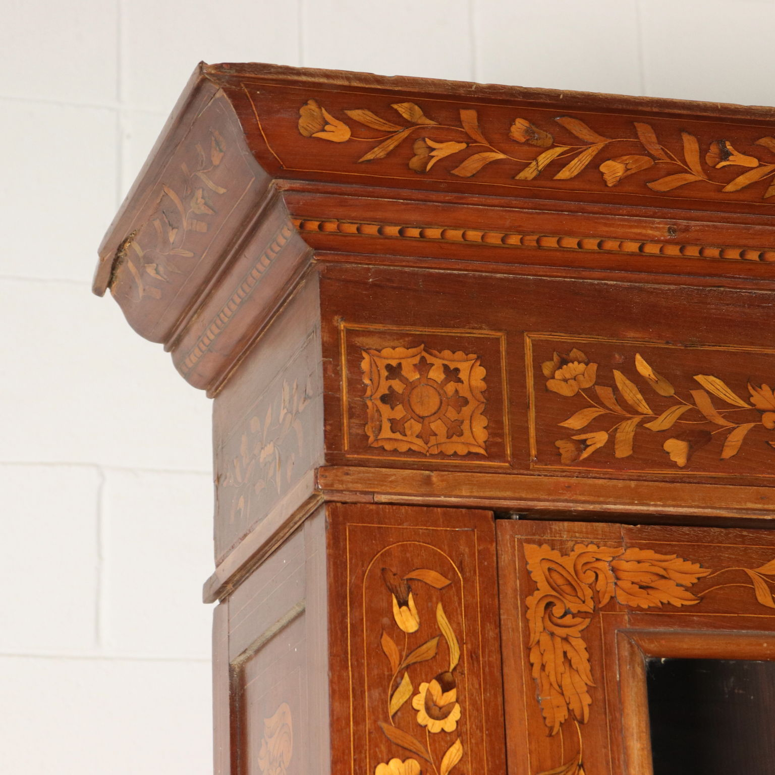 Large Bookcase Maple Mahogany Glass Doors Italy 1800s Libraries And Shop Windows Antique Dimanoinmano It