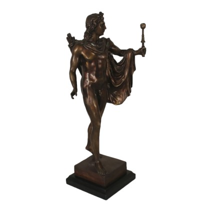 Apollo God of the Sun Bronze Sculpture Italy 20th Century