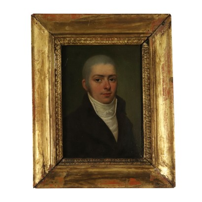 Portrait of Antonio Vidani Oil on Board 1803