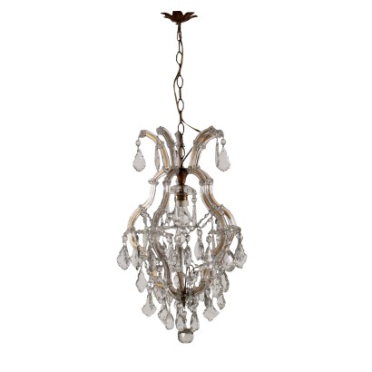 Chandelier Marie Therese Style Glass Italy First Half of 1900s