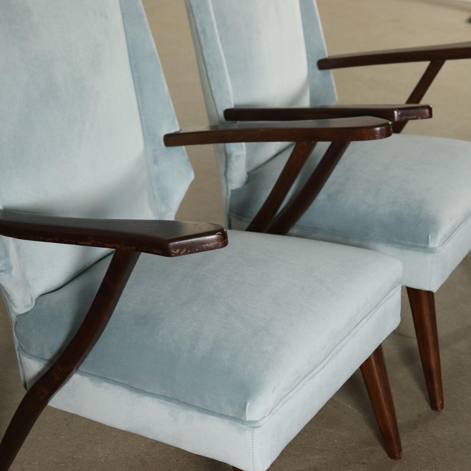 Ein Paar Sessel Samt Vintage Argentinien 50er Jahre
