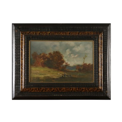Landscape by Cesare Gheduzzi Autumn Tuscan Countryside 20th Century
