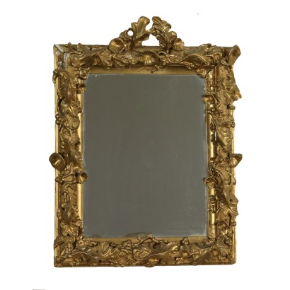 Gilded Carved Mirror Manufactured in Italy 19th Century
