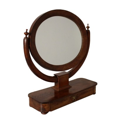 Table Cheval Mirror Walnut Italy First Quarter of 1800s