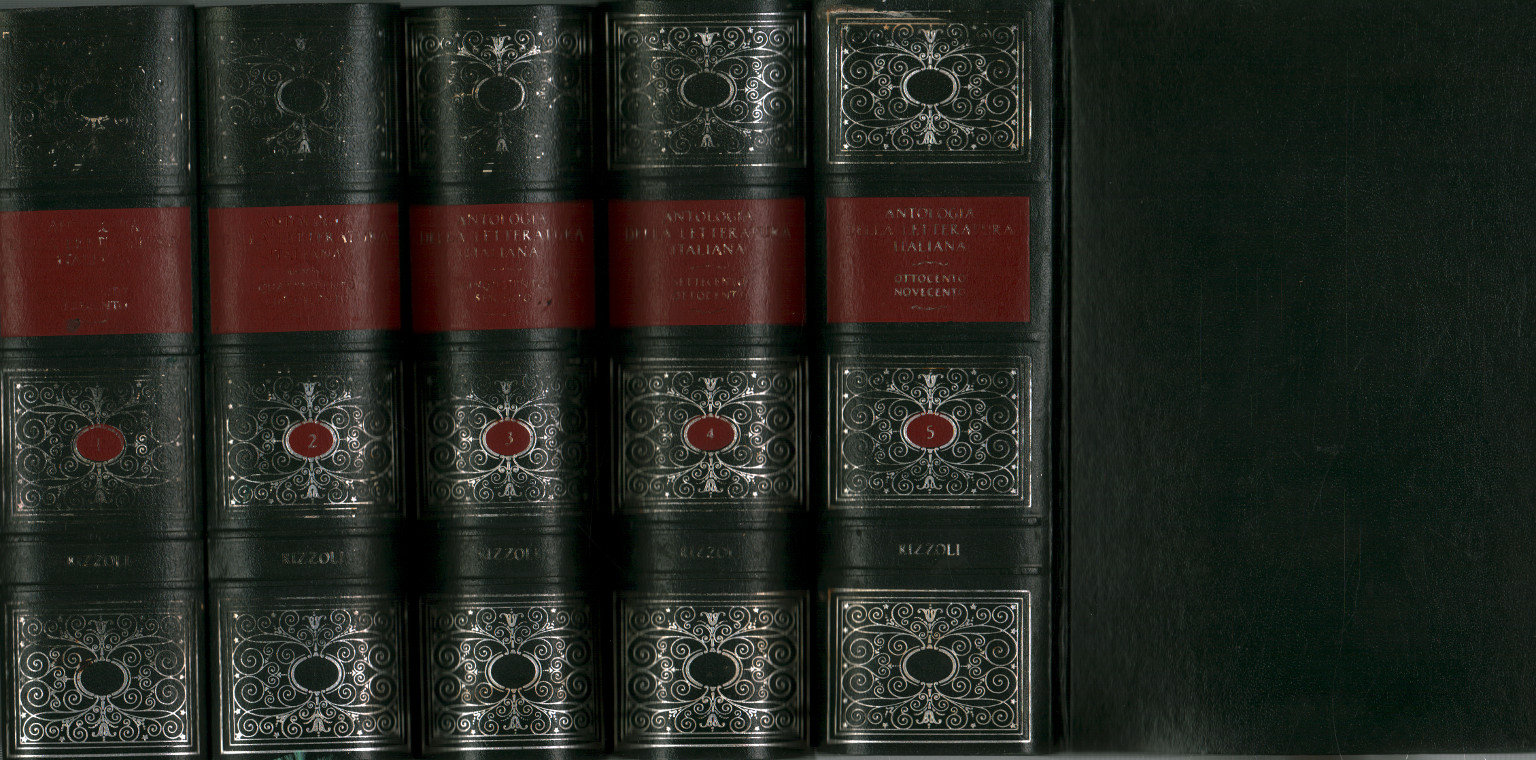 Anthologie de la littérature italienne (5 volumes), s.un.
