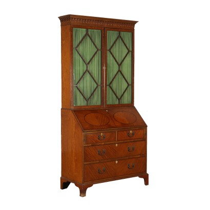 Bureau Bookcase with Drop-leaf Italy Mid 1800s