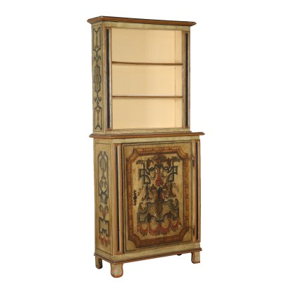 Lacquered Cabinet Bookcase Italy 18th-20th Century