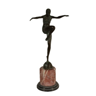 Bronze Dancer Copy From Johann Philipp Preiss 20th Century