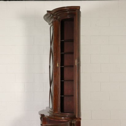 Large Bookcase Six Blocks Maple Mahogany England Mid 1800s