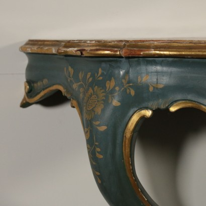 Pair of Drop-Shaped Console Tables Italy First Half of 1900s