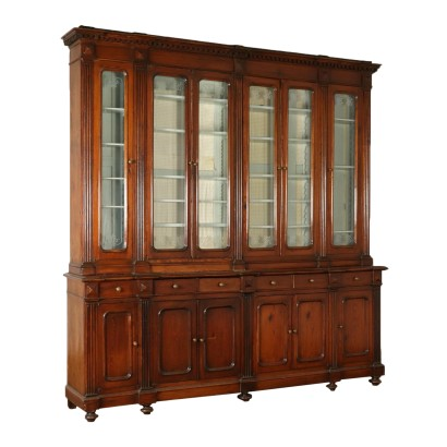 Large Liberty Bookcase Larch Italy Early 20th Century
