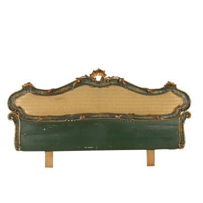 Revival Headboard Lacquered Wood Italy First Half of 1900s