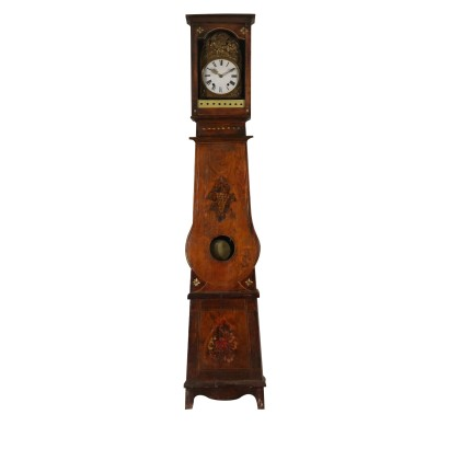 Grandfather Clock Lacquered Wood France Mid 1800s