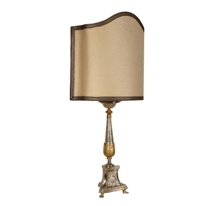 Table Lamp Metal Sheet Lampshade Italy 19th Century