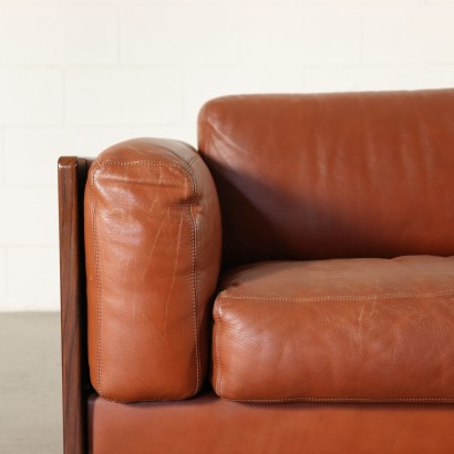 Sofa by Afra & Tobia Scarpa Leather Vintage Italy 1960s-1970s