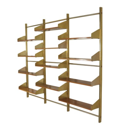 Hanging Bookcase for Feal Brass Vintage Italy 1960s