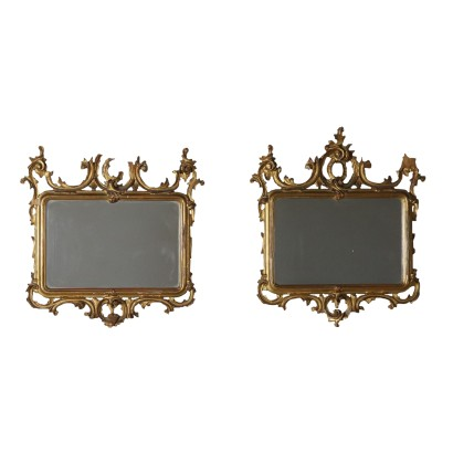 Pair of Frames Gilded Wood Italy Late 19th Century