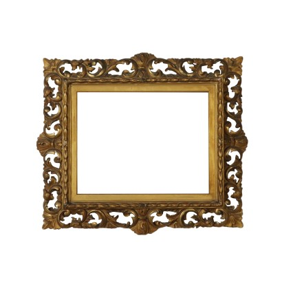 Revival Carved Gilded Frame Italy 20th Century