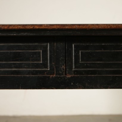 Walnut Desk Two Drawers Italy Late 18th Century