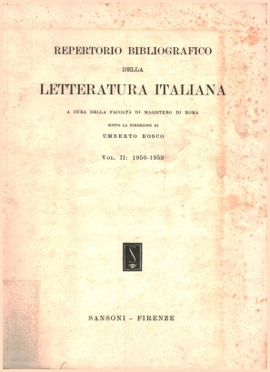 Bibliography of Italian Literature. Vol II
