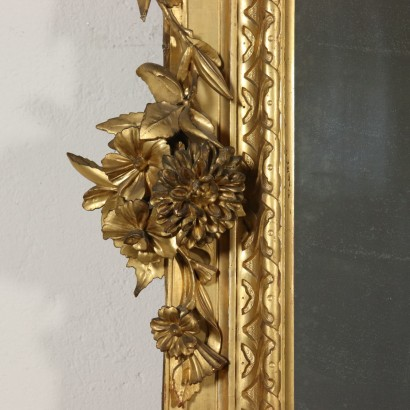 Large Carved Gilded Mirror Italy Last Quarter of 1800s